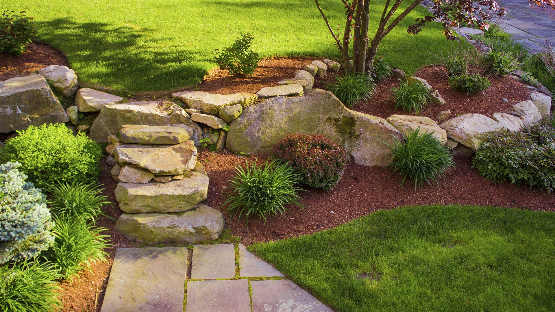 Home glen allen landscaping weed control and lawn care for Landscape design photos
